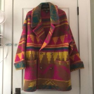 Rare Vintage Oversized Boho Southwest Wool Jacket
